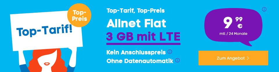 BLAU Sim Only Aktion - All Net Flat für nur 9,99 Euro im Monat