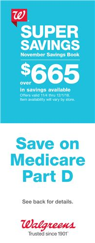 Walgreens This Month's Savings Book front page