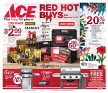 ACE Hardware November Red Hot Buys front page