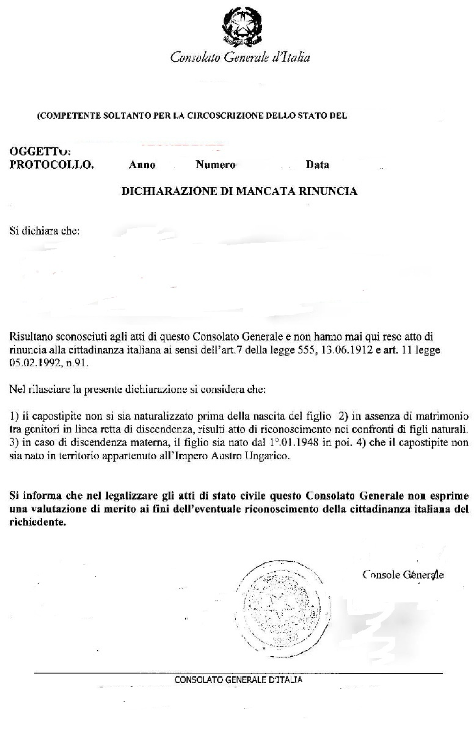 Applying for Italian dual citizenship in Italy