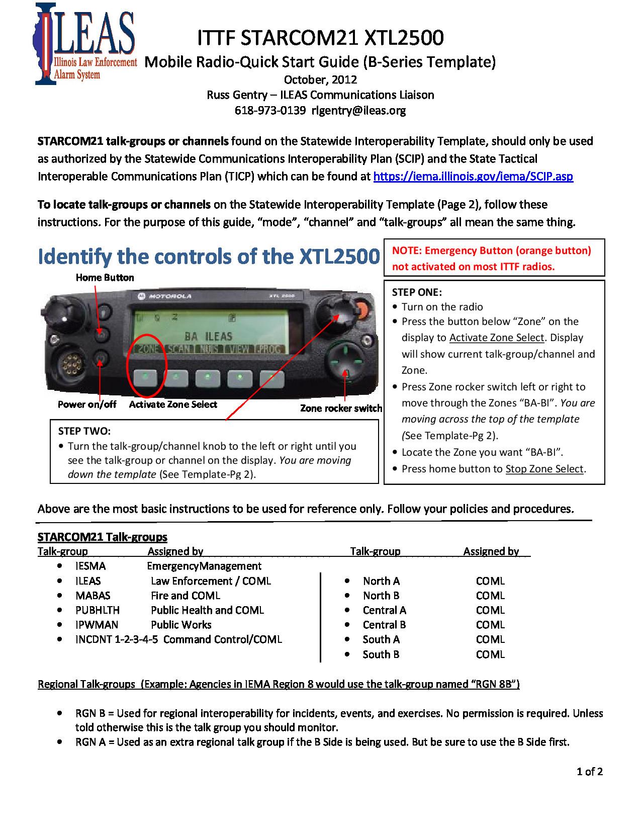 XTL2500 Guide 1