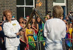 Olympic torch bearer in 2012