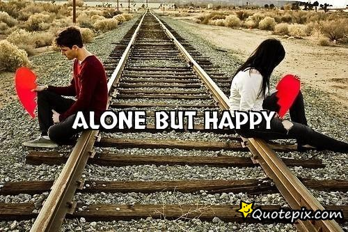 Alone but Happy Status in Hindi