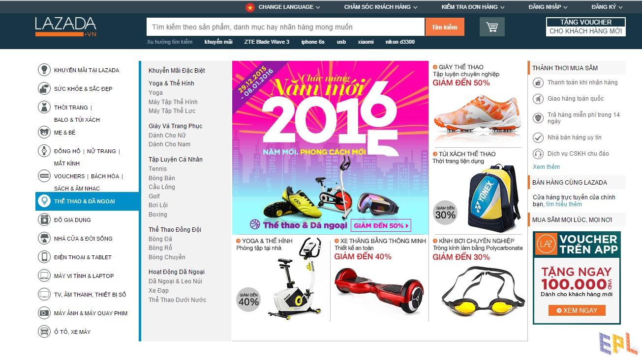 Website thương mại điện tử Amazon