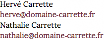 contact Domaine Carrette
