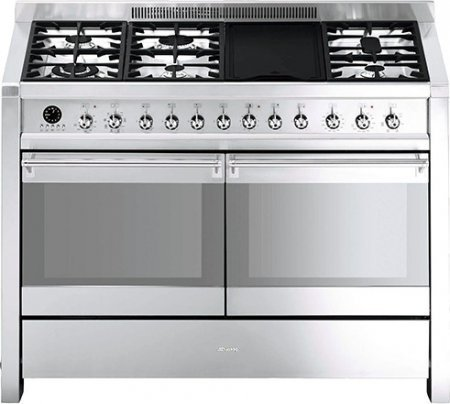 Smeg-A3XU6-48-Freestanding-Dual-Fuel-Cavity-Opera-Range-5-Gas-Burners-Electric-Grill-in-Stainless-Steel