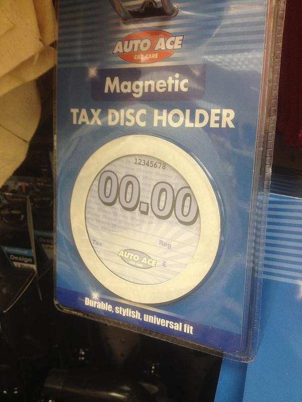 Tax Disc holder