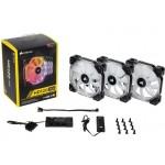 Kit Cooler Corsair HD120 com 3 FANs LED RGB + Controlador 120MM - CO-9050067-WW