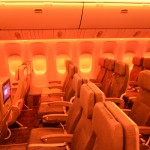 China Airlines' Boeing 777-300ER features 256 regular economy class seats with state-of-the-art in-flight entertainment systems. (TIM JUE/ CALIFORNIA BEAT PHOTO)