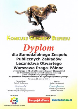 Dyplom Gepard Biznesu 2017