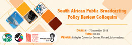 South African Broadcasting Review Colloquium