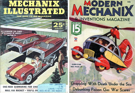 Flying cars magazine covers
