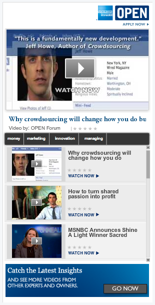 AMEX Content Ads for Open Forum