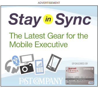 Fast Company and Chase Credit Cards Content Ads