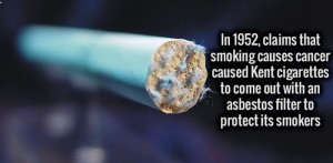 Cigarettes with asbestos