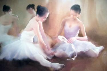 水彩芭蕾–柳毅水彩画作品欣赏