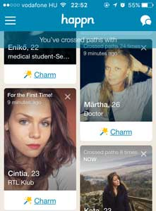 Charms Happn App