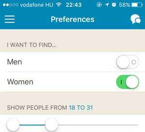 Set Happn Preferences