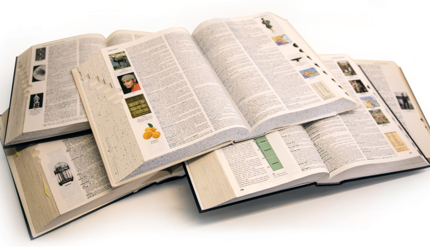 Every edition of the 'American Heritage Dictionary.' Color images first appeared in the fourth edition (2000).