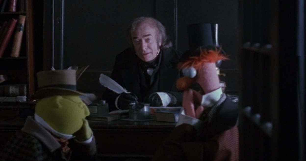 Scrooge rebuffs the philanthropists