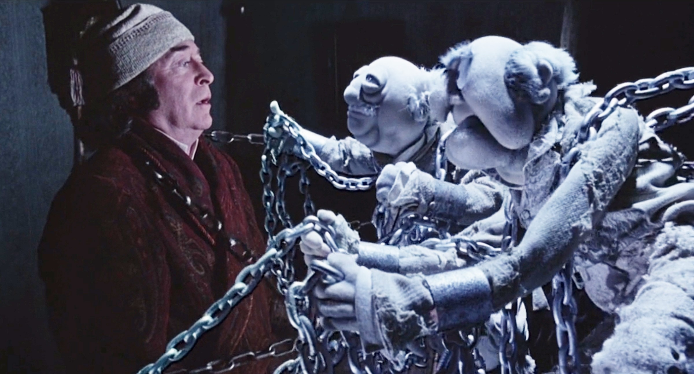 Michael Caine as Ebenezer Scrooge in 'The Muppet Christmas Carol'