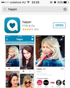install Happn application