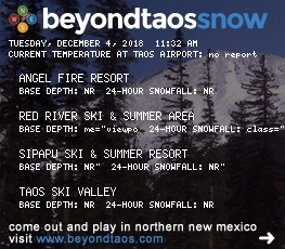 Beyond Taos Snow Sticker
