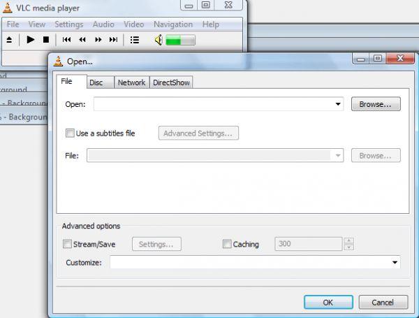 Cửa sổ duyệt mở file trong Media Player.
