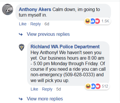 Man Replies to his Own Police Wanted Post on Facebook, and It's Funny as Hell 1