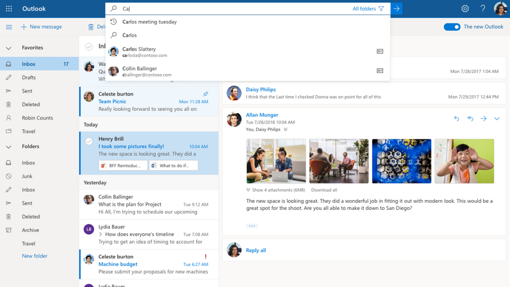 Microsoft announces improved Calendar and sign-in experiences for Outlook on the web