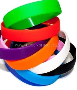 silicone bracelets witout printing