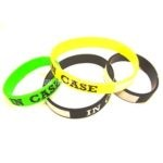 silicone wristbands printed In case and writable field
