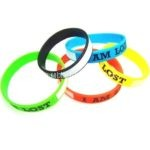 Silicone Wristbands I am lost and writable field