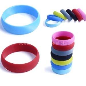 promo round shaped silicone wristbands