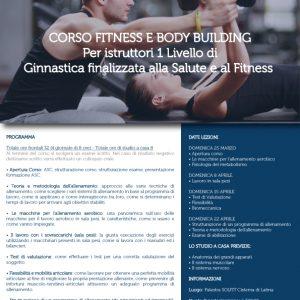 CORSO FITNESS E BODY BUILDING – Per istruttori 1° livello di Ginnastica finalizzata alla salute e al fitness