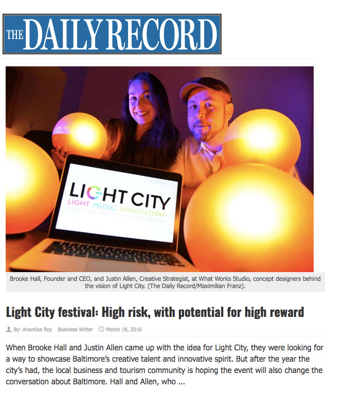 Brooke Hall and Justin Allen, Creators Light City