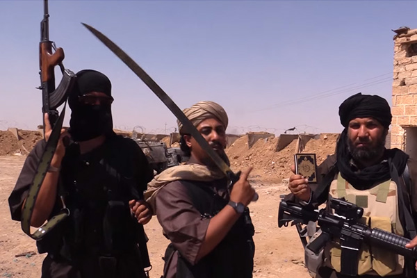 """Screengrab from VICE News documentary """"The Islamic State"""" by reporter Medyan Dairieh. (Image: VICE/YouTube)"""