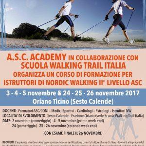 CORSO DI FORMAZIONE PER ISTRUTTORI DI NORDIC WALKING II° LIVELLO ASC