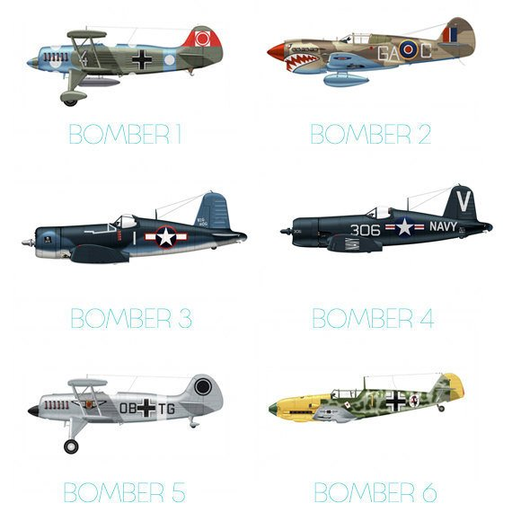 Set of 8 Airplane Boy's Nursery Playroom Wall Art