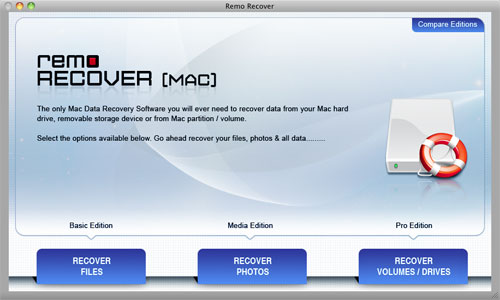 Mac Deleted File Recovery Software - Main Screen