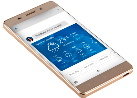 Smartphone - Previsão do tempo