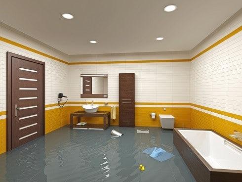 flooding bathroom