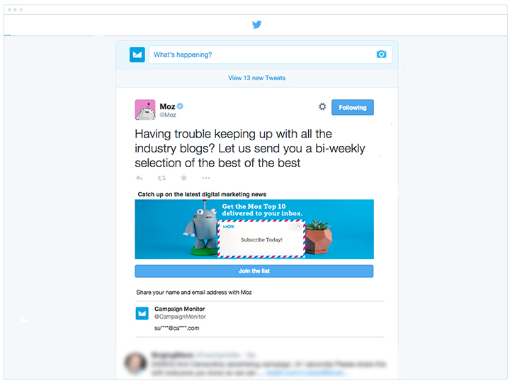 Moz - Twitter Lead Generation Cards