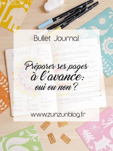 Préparer ses pages à l'avance Bullet Journal