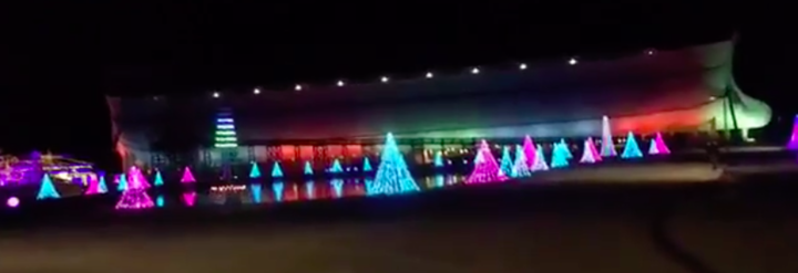 Image result for picture of ark encounter in rainbow colors