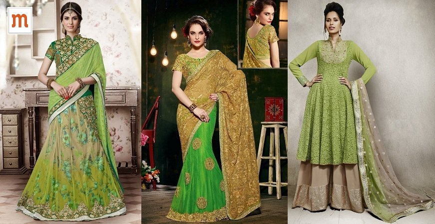 designer Indian Wedding Dress Collection at Moksha Fashions