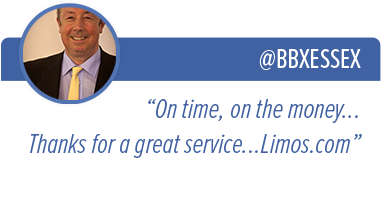 "@BBXESSEX - ""On time, on the money... Thanks for a great service... Limos.com"""