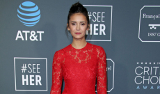 Nina Dobrev Slays In Gorgeous Red Lace Dress At Critics' Choice Awards
