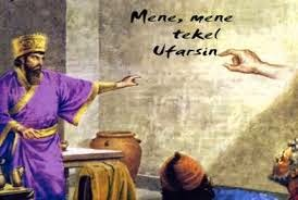 Image result for picture of belshazzar writing on the wall