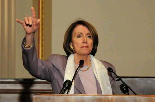 Image result for picture of pelosi satanic hand sign